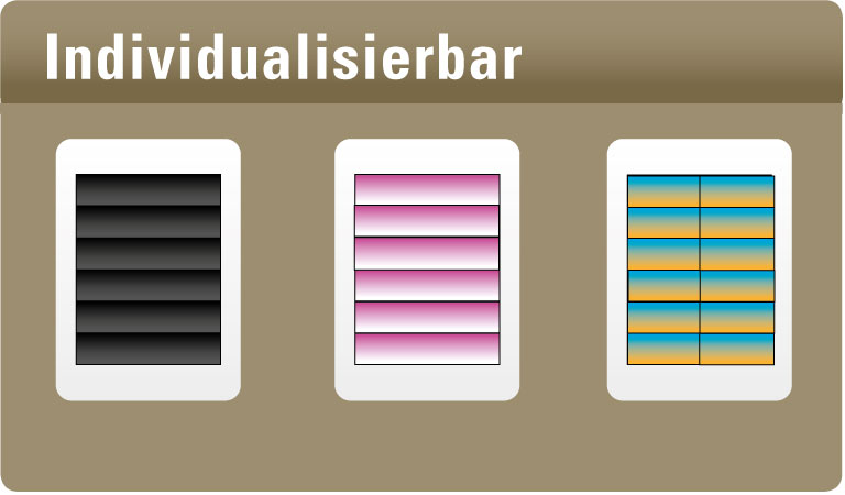 [Translate to Englisch:] Individualisierbar